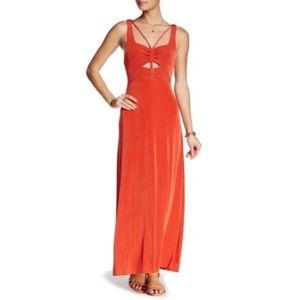 Free People Burnt Orange Hypnotize Maxi Dress